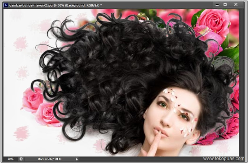 tutorial membuat seleksi rambut photoshop dengan mudah dan cepat
