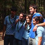 Los Scouters recién promesados (Baloo, May y Tic-Tac) junto a Iván y Javi