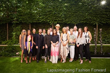 David Koma, Emilia Wickstead, Holly Fulton, Marios Schwab, Mother of Pearl, Palmer-Harding, Prism, Sibling and Sophia Webster
