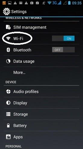 Bước 2 đổi DNS di động hệ điều hành Android