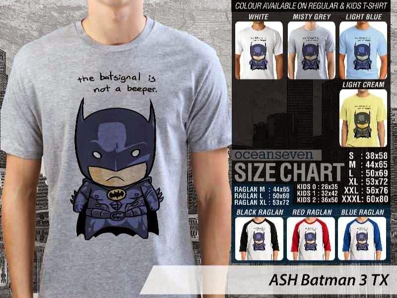Kaos Superhero Lucu Batman 3 Batman distro ocean seven