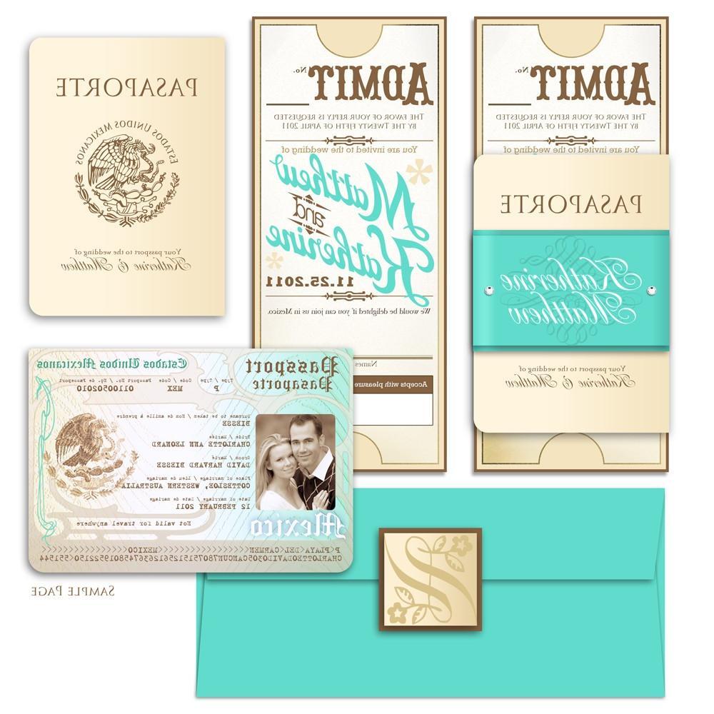 Vintage Passport Style
