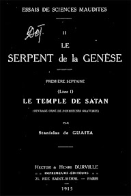 Cover of Stanislas de Guaita's Book Le Serpent de la Genese, Livre I Le Temple de Satan (1915,in French)