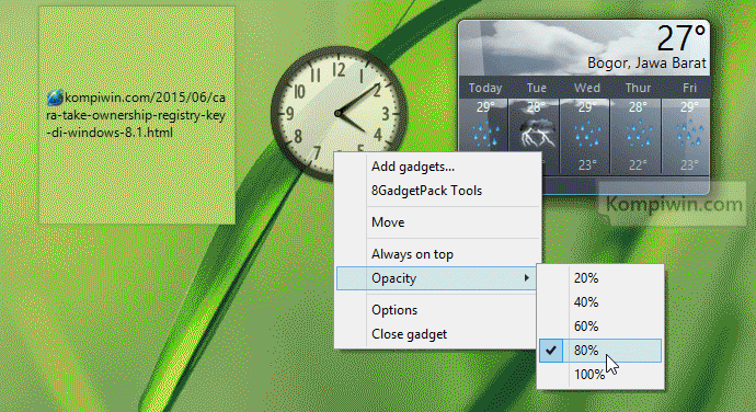 gadget jam di windows 8.1