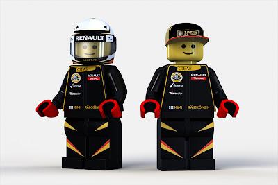 лего-фигурка Кими Райкконен Lotus F1 2012