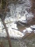 Vickery Creek snowfall 2