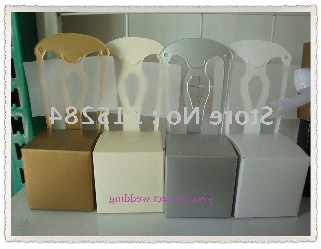 Silver Wedding Favor Boxes Chair Style  XY-42