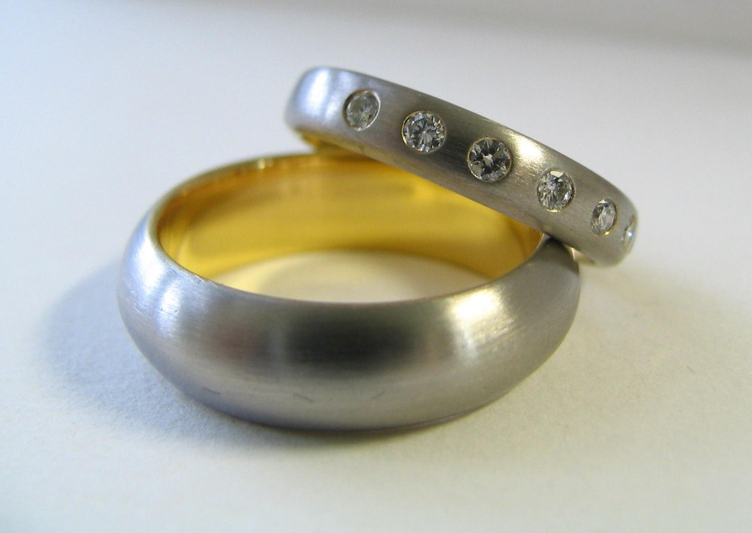 Custom Wedding Rings His and Hers