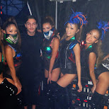 Alesso with Team Japan dancers at Ultra Japan 2015 in Tokyo, Tokyo, Japan