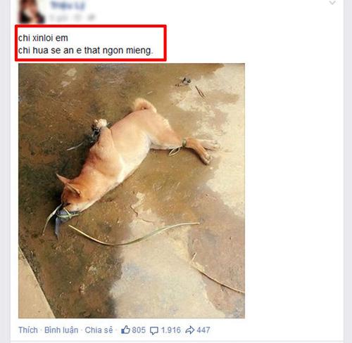 Phan no co gai dang anh giet cho an sinh nhat len Facebook  1