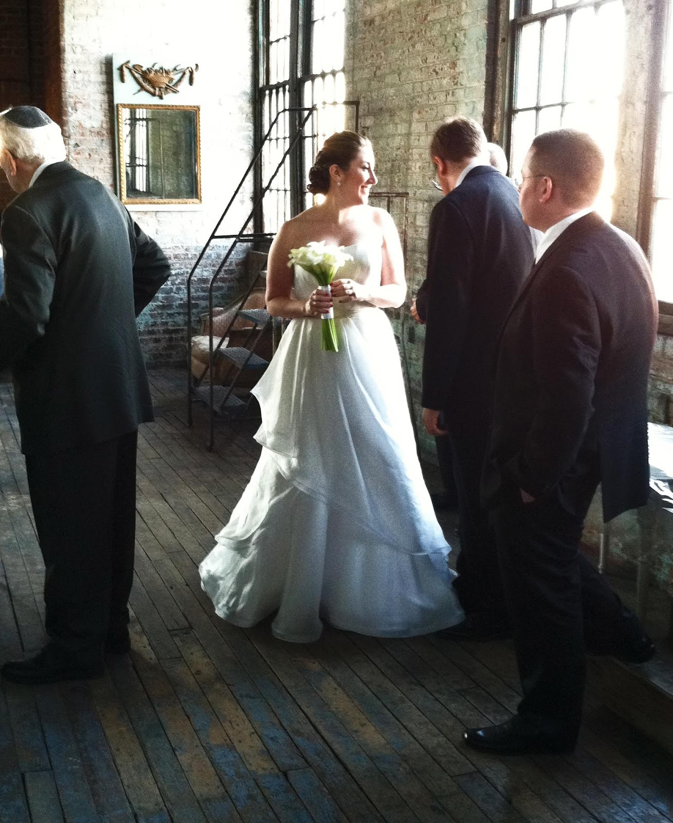 City loft at the wedding