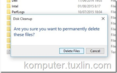 Screenshots Cara hapus folder windows old Tuxlin Blog07