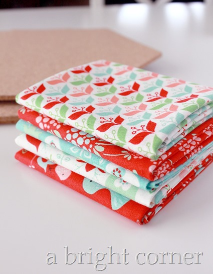 fabric covered hexagons