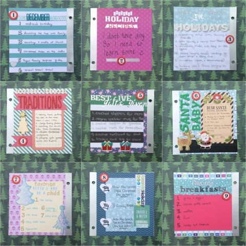 december 2015 listers gotta list the reset girl scrapbook paper craft diy mini album memory keeping project life december daily