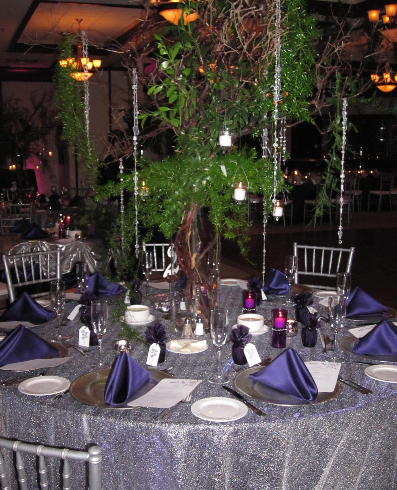 The two wedding party tables,