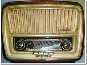 Aparato de radio telefunken