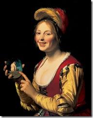 Gerard-van-Honthorst-Gerrit-van-Honthorst-Smiling-Girl-a-Courtesan-Holding-an-Obscene-Image