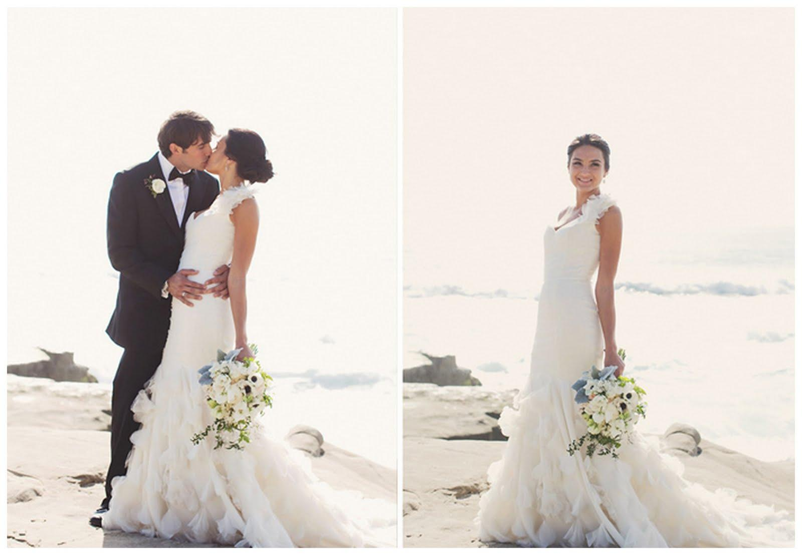 Real Summer Sea-Side Wedding: