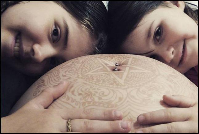 Baby Boho Belly Henna