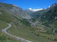 Vom Süden her hoch zum Col de l'Iséran.