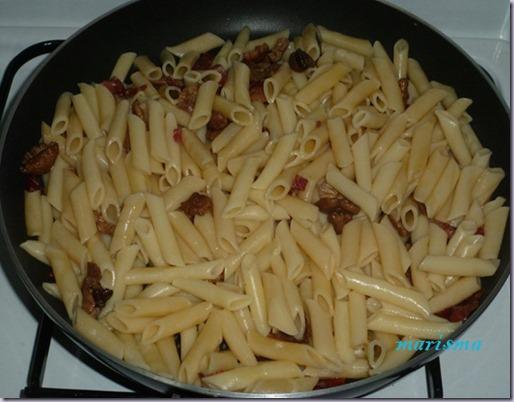 macarrones con senderuelas y queso brie5 copia