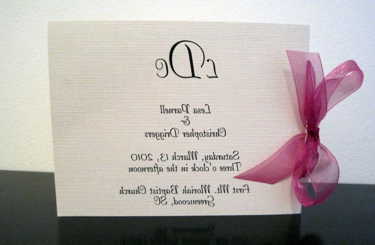 Side Ribbon Wedding Ceremony