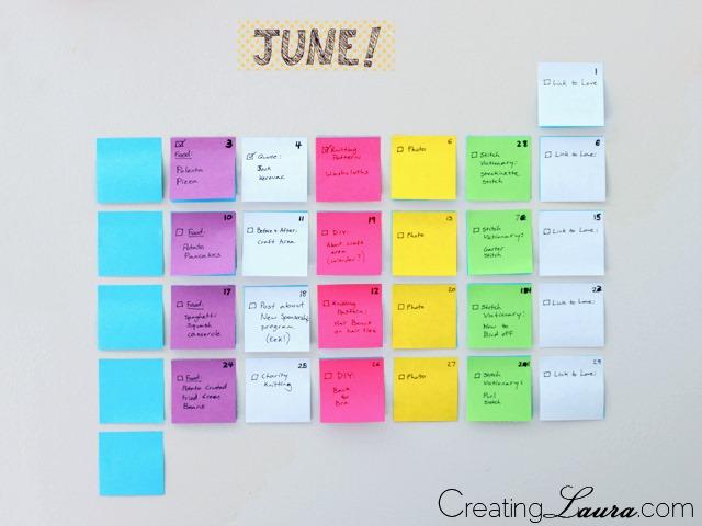 DIY-sticky-note-calendar