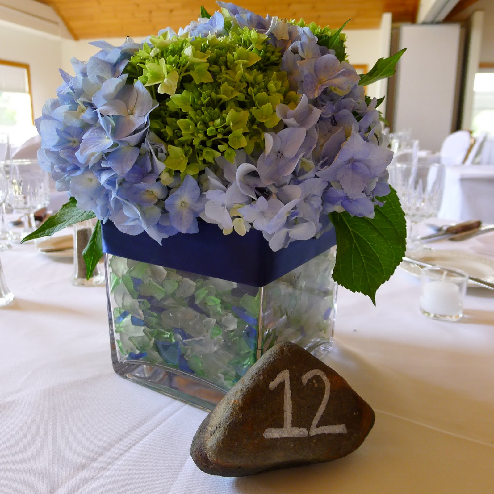 Saman s hydrangea wedding centerpieces