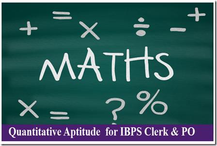 Quantitative Aptitude PDF For IBPS