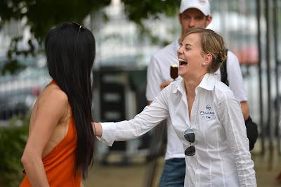 Николь Шерзингер и Сьюзи Вольф на Гран-при Малайзии 2013