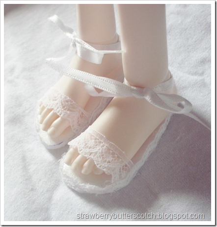 Lace and Ribbon Doll Sandals