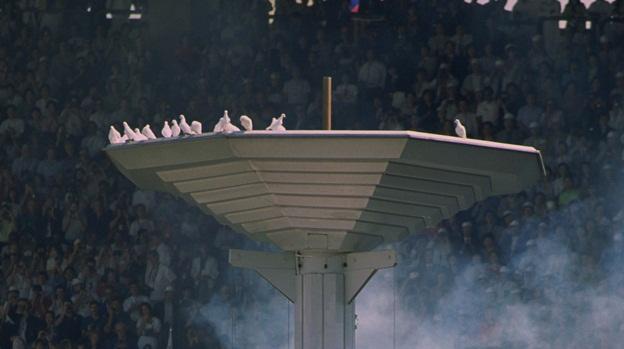 Las palomas observan la ceremonia