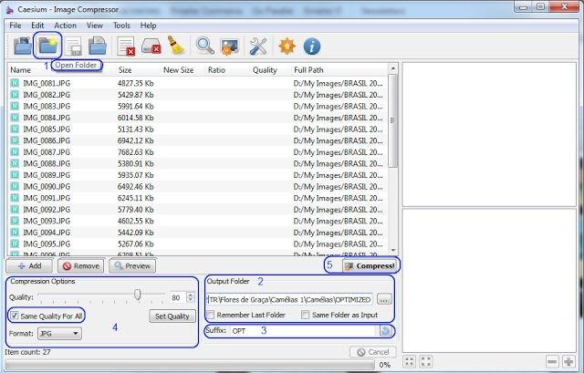 Caesium - Image compressor - Interface