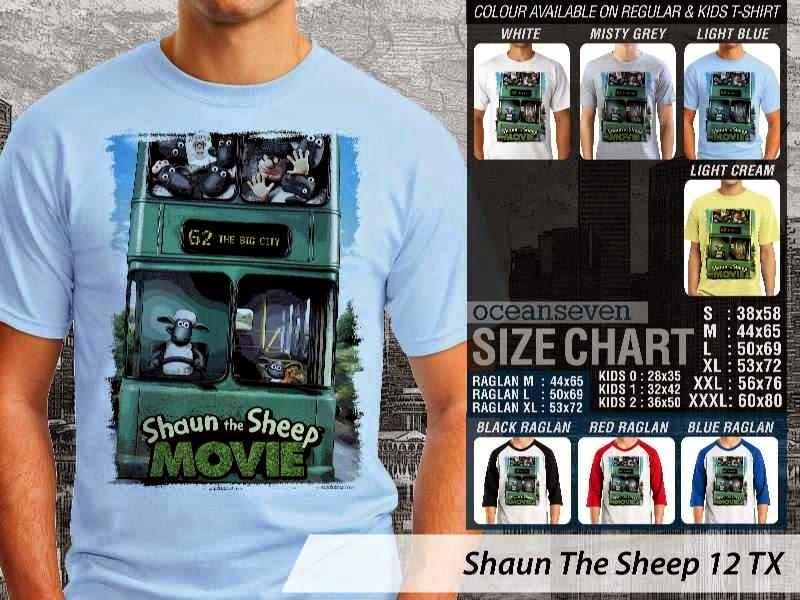 Kaos Movie Shaun The Sheep 12 distro ocean seven