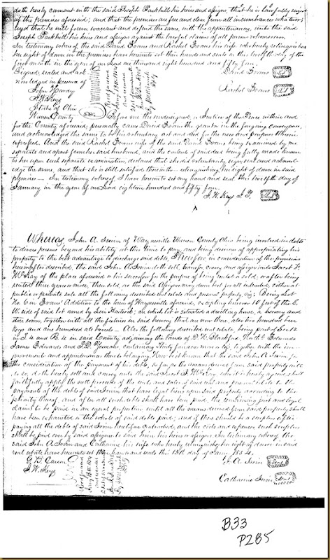 John A. Irwin,Catharine IrwinWaynesville, Warren Co, OH,Jacob F. McKay 1854 1