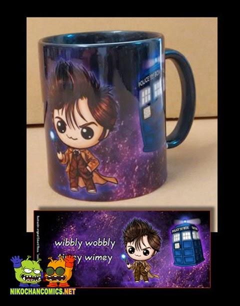 Taza 10th Dr. Who en versión kawaii