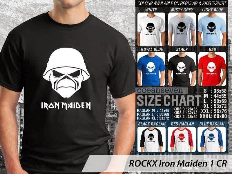 Kaos Musik Rock Band Legendaris Iron Maiden 1 distro ocean seven