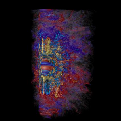simulação do campo magnético toroidal de estrela massiva