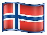 De vlag van Noorwegen; onze vakantiebestemming van 2012.