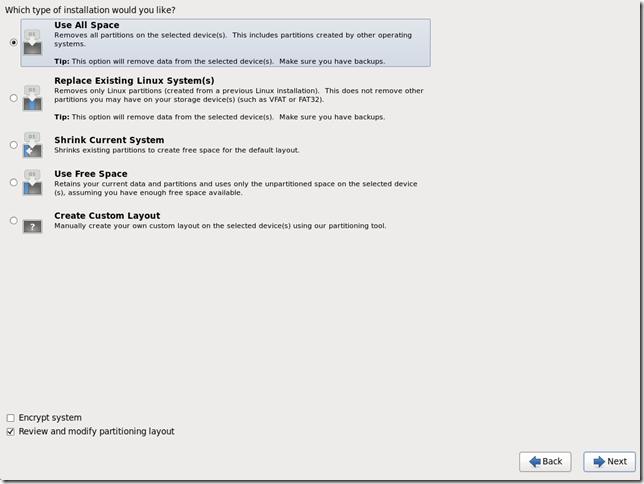 Install OS Screen 15