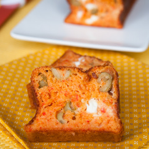 Red Pepper, Feta And Olive Cake