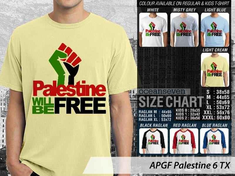 Kaos Muslim Islam Palestine 6 distro ocean seven