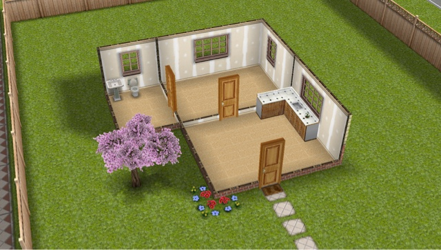 Sims Freeplay Unfurnished Studio House Design. Sims Freeplay Unfurnished Studio Prebuilt Houses   Greenoid Gemzicle