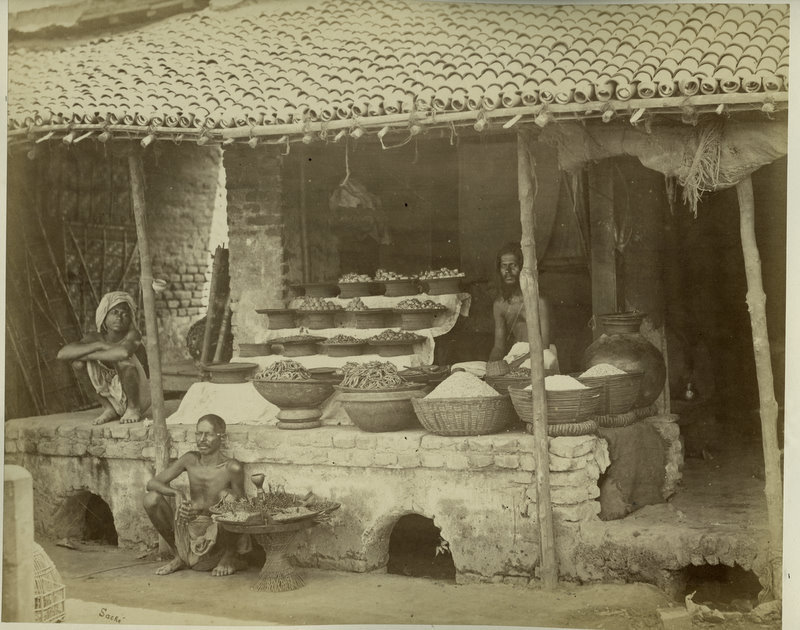 Indian Food Shop - Circa 1870's