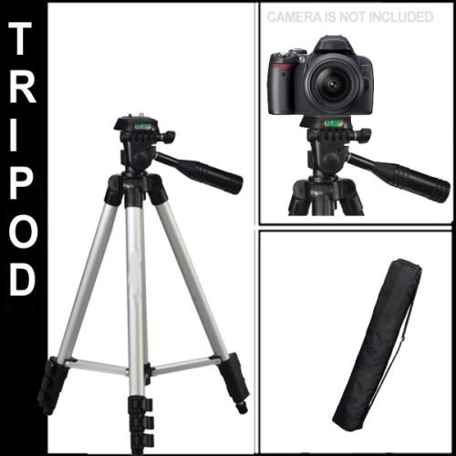 Full Size 50-inch Tripod With Leveler  360 adjust & Case