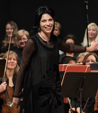 IN PERFORMANCE: Mezzo-soprano VIVICA GENAUX as Arsace in Washington Concert Opera's performance of Gioachino Rossini's SEMIRAMIDE, 22 November 2015 [Photo by Don Lassell,