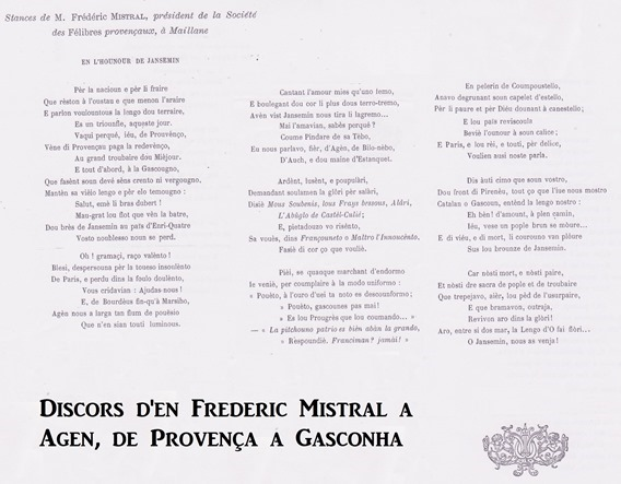 Discors de Frederic Mistral a Malhana