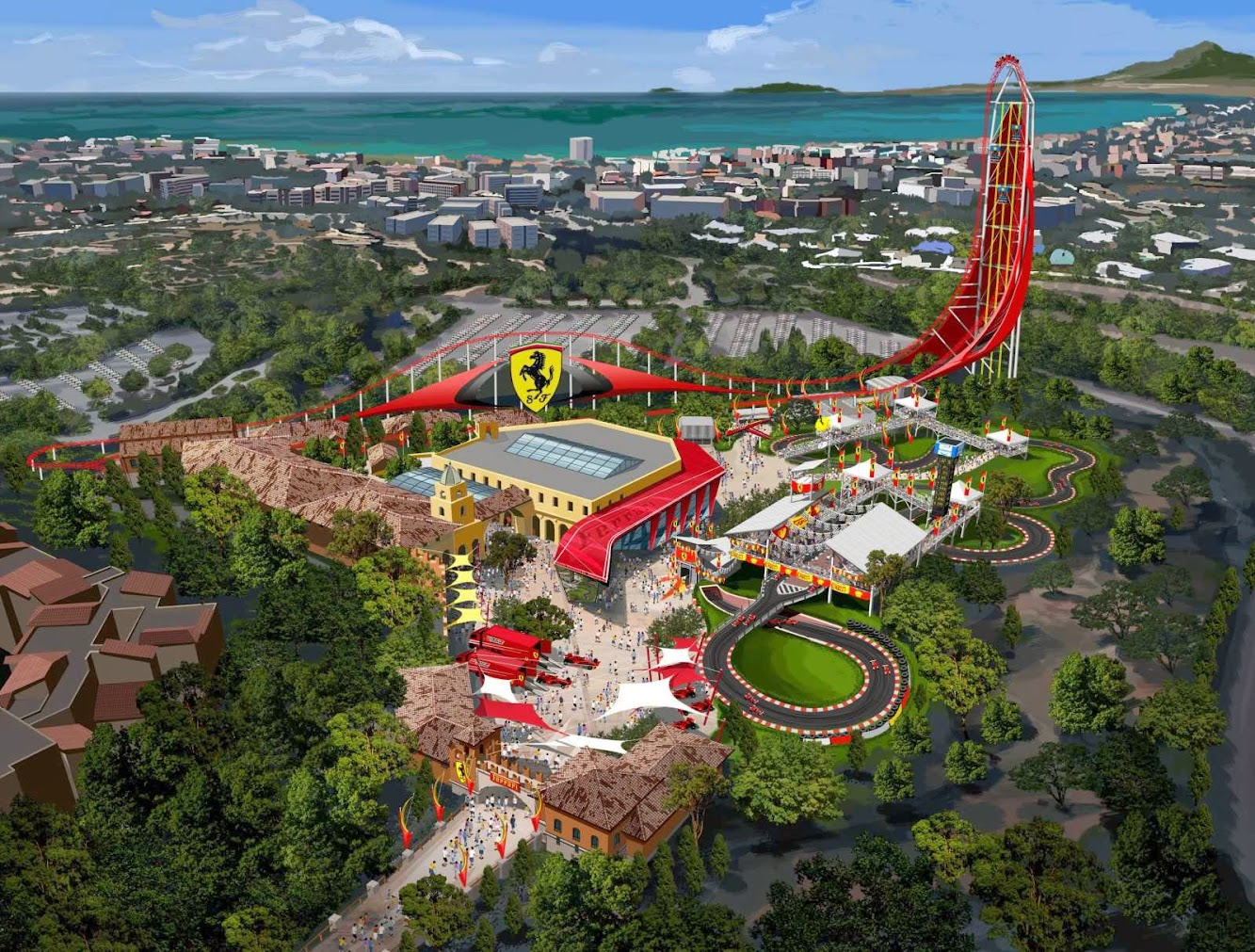 Ferrari Land the first theme park in Europe