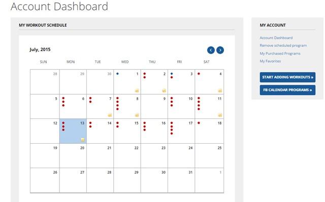 fitness blender calendar