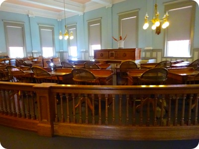 The House of Representatives room in the old Capitol.